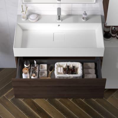Mobile bagno Neo Line L 90 x P 48 x H 32 cm 1 cassetto rovere scuro