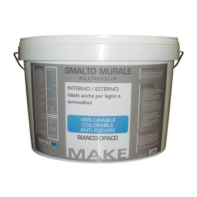 Smalto murale bianco opaco Make 9 L