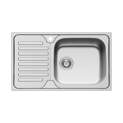Lavello incasso Dorian L 86 x P  50 cm 1 vasca DX + gocciolatoio