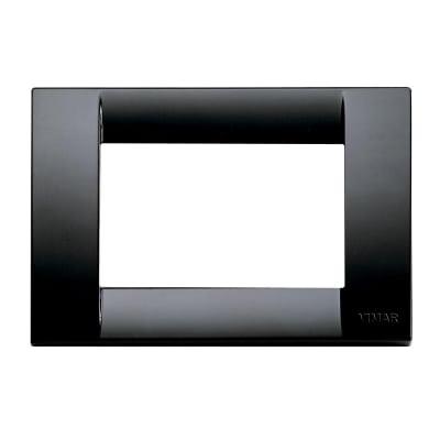 Placca 3 moduli Vimar Idea nero