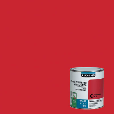 Idropittura lavabile antimuffa rosso rosso 3 0 75 l for Antimuffa leroy merlin