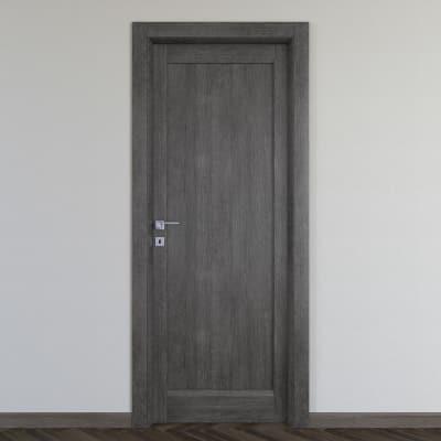 Maniglia per porta con rosetta e bocchetta Cartesio in alluminio