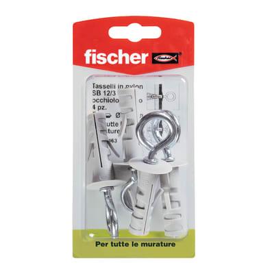 4 tasselli Fischer SB ø 12 x 45  mm con occhiolo chiuso