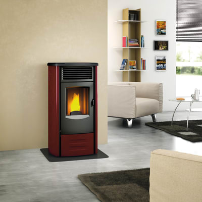 Stufa a Pellet Marcella 8,5 kW bordeaux