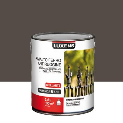 Smalto per ferro antiruggine Luxens marrone cioccolato brillante 2,5 L