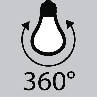 Lampadina LED Lexman Filamento E27 =40W goccia luce naturale 360°