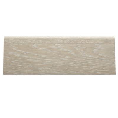 Battiscopa confezione da 10 pezzi carta finish rivestito rovere sbiancato 15 x 70 x 2400 mm