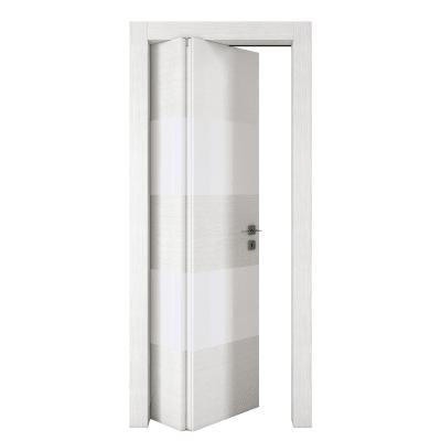 Porta da interno pieghevole asimmetrica Melangè bianco 80 x H 210 cm sx
