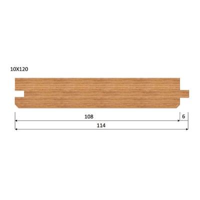 Perlina abete grezzo naturale 125 x 2000  mm