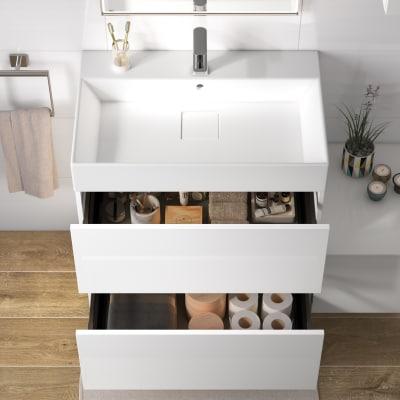 Mobile bagno Neo Line L 75 x P 48 x H 64 cm 2 cassetti bianco