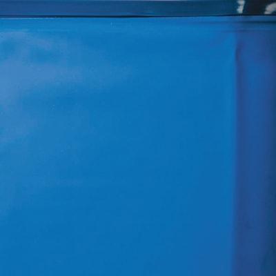 Piscina con parete in acciaio ovale bianca con sistema omega h 132, 800 x 470 cm
