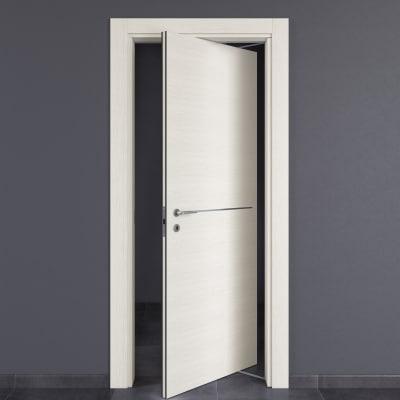 Porta da interno rototraslante Hollow bianco matrix 70 x H 210 cm dx