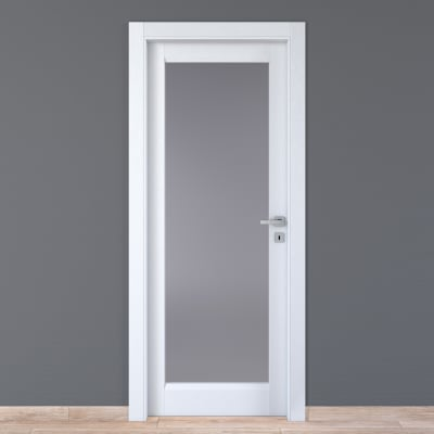 Porta da interno battente Bellatrix bianco 70 x H 210 cm sx