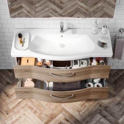 Mobile bagno Solitaire rovere L 122 cm