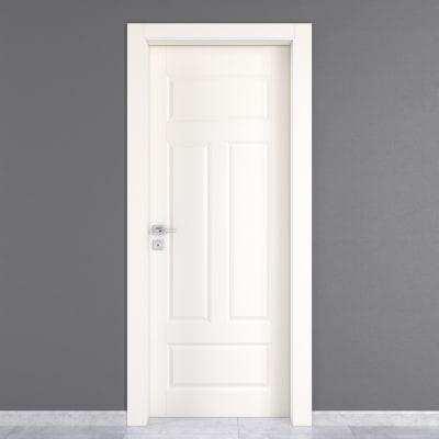 Porta da interno battente Coconut Groove bianco 70 x H 210 cm dx