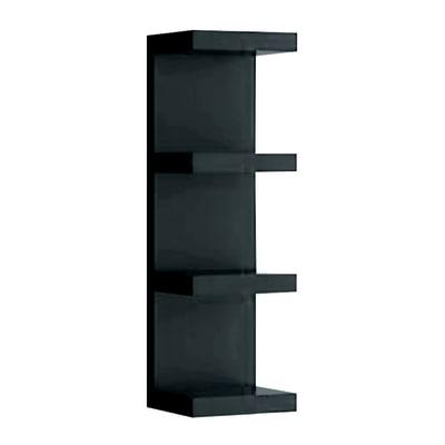Mensola verticale a pettine Spaceo nero L 25,5 x P 23,7, sp 2,2 cm