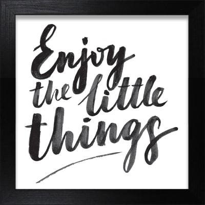 Stampa incorniciata Enjoy the little things 30 x 30 cm