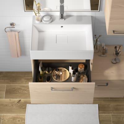 Mobile bagno Neo Line L 60 x P 48 x H 32 cm 1 cassetto rovere chiaro