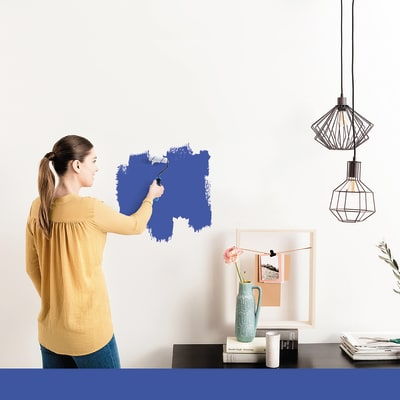 Tester idropittura murale Mano unica Blu Blu 2 Luxens