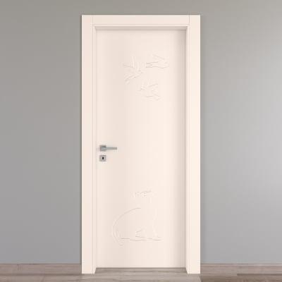 Porta da interno battente Catbird crema 60 x H 210 cm dx