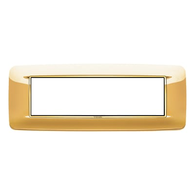 Placca 7 moduli Vimar Eikon Round oro lucido