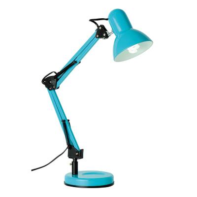 Lampada da scrivania flessibile Ennis azzurro