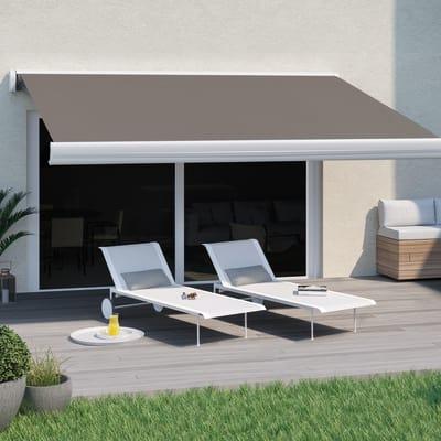 Tenda da sole a bracci estensibili su barra quadra motorizzata Naterial 400 x 300 cm marrone