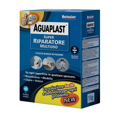 Stucco in polvere Aguaplast Super Riparatore ruvido bianco 1 kg