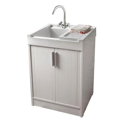 Mobile lavatoio Up bianco L 59,2 x P  62,4 x H 84 cm