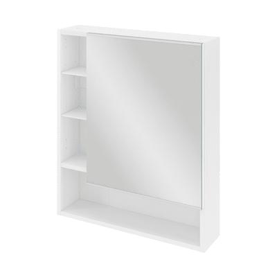 Armadietto a specchio Easy L 51,9 x H 73,3 x P  6,5 cm bianco lucido