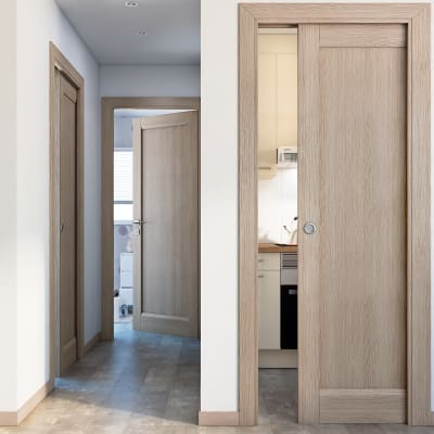 Porta da interno battente Etamin paglia 70 x H 210 cm sx