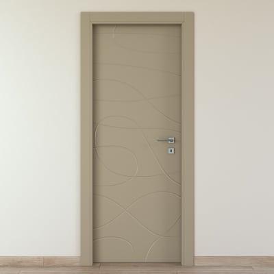 Porta da interno battente Wind taupe tortora 80 x H 210 cm sx