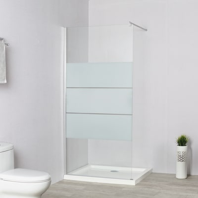Doccia walk-in Easy 80, H 195 cm cristallo 6 mm serigrafato/silver