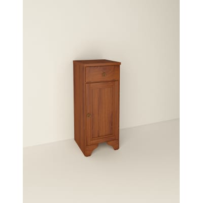 Colonna Laura marrone 1 anta, 1 cassetto L 34,5 x H 81 x P 35,5 cm