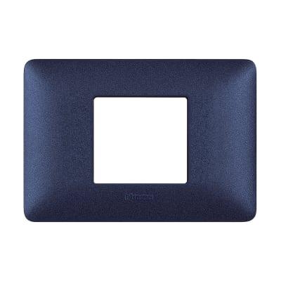 Placca 2 moduli BTicino Matix blu mercurio