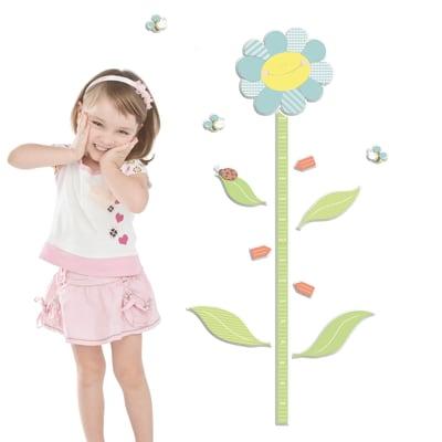 Growth Chart Sticker FM L Smiling flower