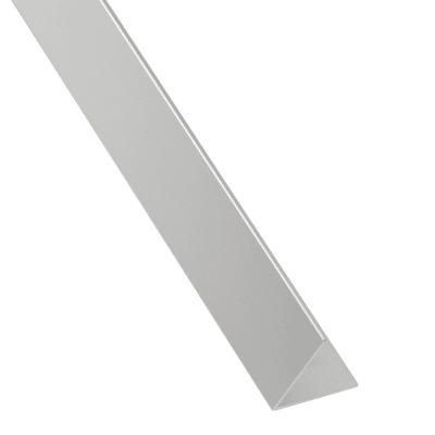 Profilo angolare a L in alluminio brillante, L 30 x H 30 x S 2 mm x P 2,6 m