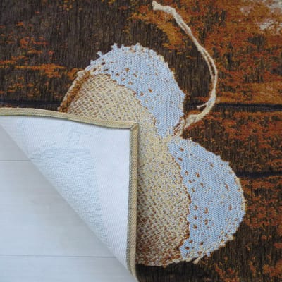 Tappetino cucina antiscivolo Gobelin jute heart beige 60 x 90 cm