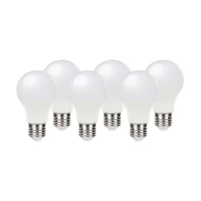 6 lampadine LED Lexman E27 =60W goccia luce calda 200°