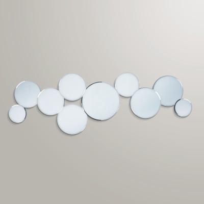 Specchio da parete sagomato cerchi 40 x 120 5 cm prezzi e for Scarpiera a specchio leroy merlin
