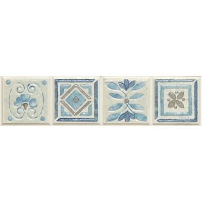 Listello Perù azzurro 5 x 20 cm