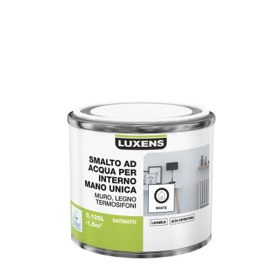 Smalto manounica Luxens all'acqua Bianco satinato 0.125 L