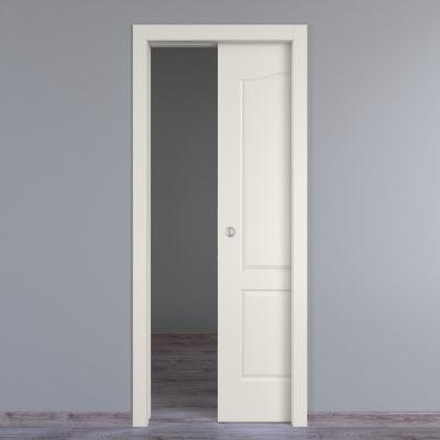 Porta da interno scorrevole Ipanema bianco 80 x H 210 cm reversibile