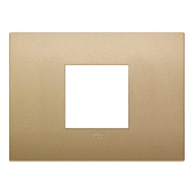 Placca 2 moduli Vimar 19652.78 Arké oro matt
