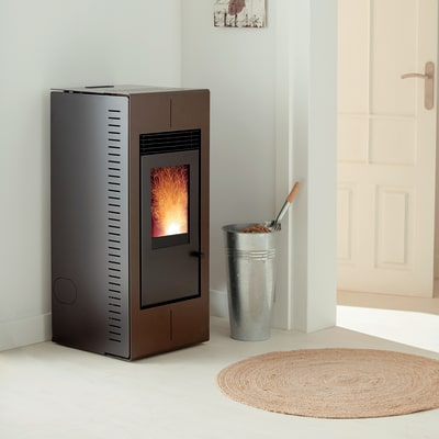 Stufa a Pellet Platinum 9,9 kW bronzo prezzi e offerte online ...