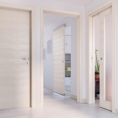 Porta da interno battente Lucad Grano 80 x H 210 cm reversibile
