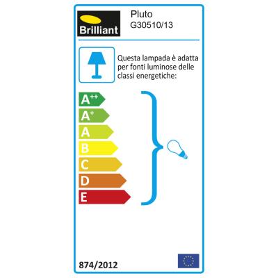 Faretto singolo Pluto cromo LED integrato