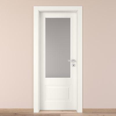 Porta da interno battente Shibuya Vetro Bianco 70 x H 210 cm sx