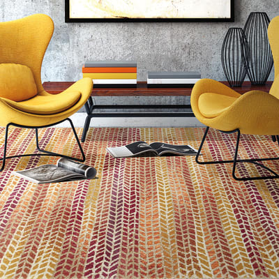 Tappeto Four seasons arancione 160 x 220 cm