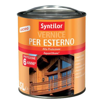 Vernice per esterno ad acqua Syntilor teak brillante 2,5 L